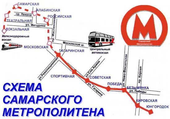 Самара, метрополитен.